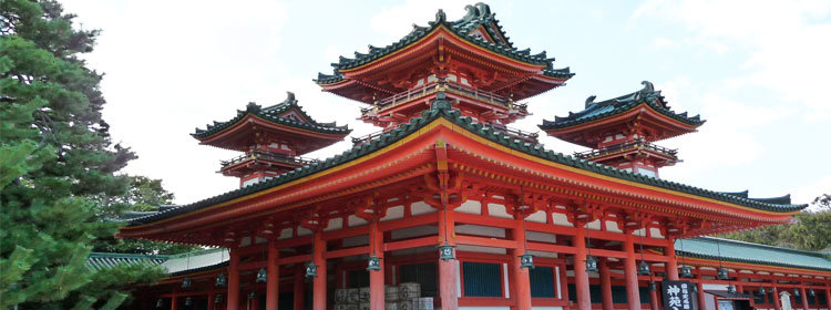 Visit the Heian Jingu Shrine Shrine in Kyoto