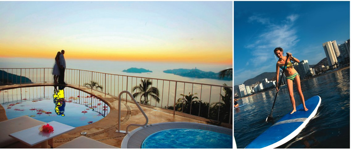 romantic holiday and water sports in Acapulco