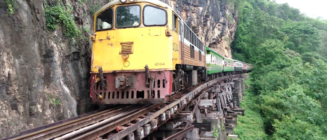 Visit the Death railway in thailand