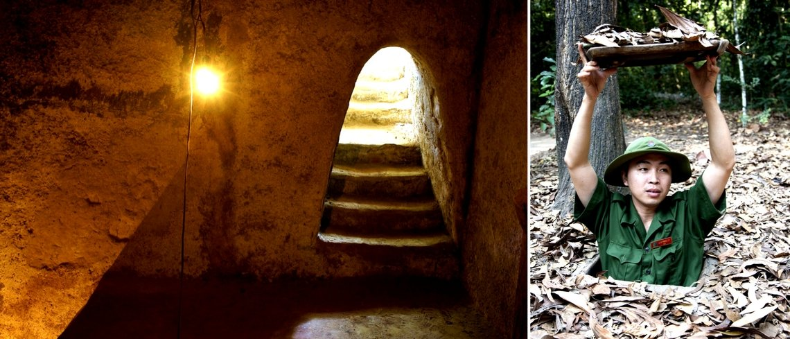 ten hot experiences in Vietnam cu chi tunnels