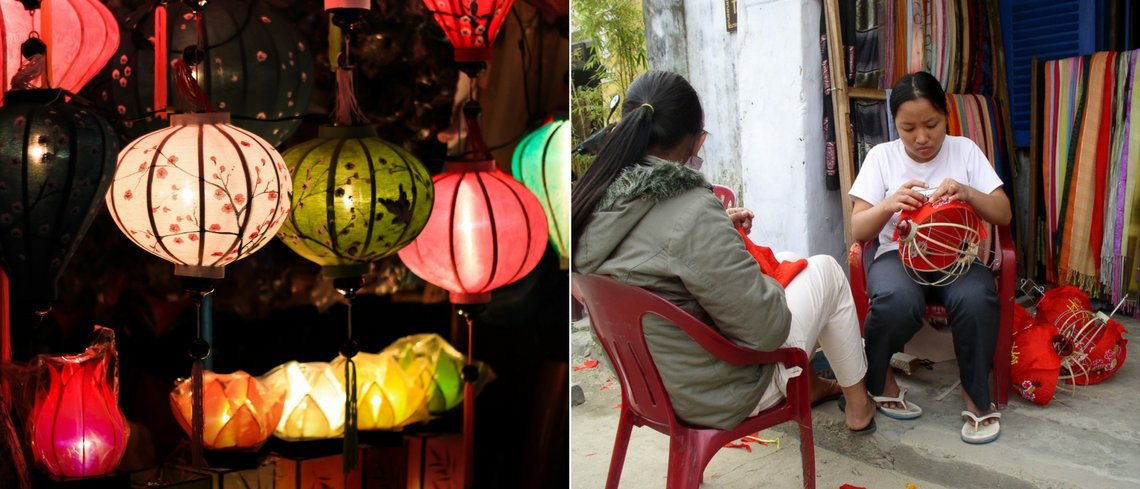 Ten hot experiences in vietnam - lantern making in hoi an